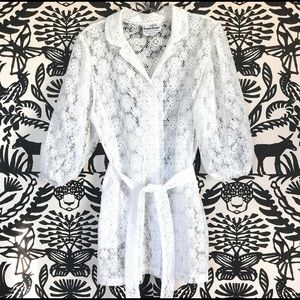 Tops - Vintage Lace Balloon Sleeve Top